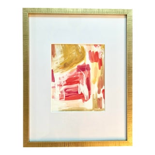 """""""Maui Paradise"""" Contemporary Abstract Watercolor Painting by Ebony Boyd, Framed For Sale"""