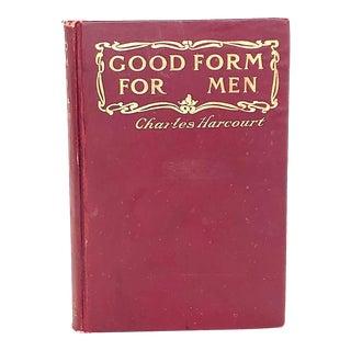 Antique Victorian Etiquette Book for Men For Sale