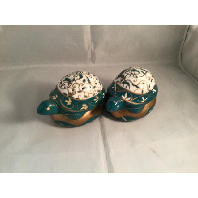 Art Deco Vintage Elizabeth Arden Porcelain Turtles-a Pair For Sale - Image 3 of 5