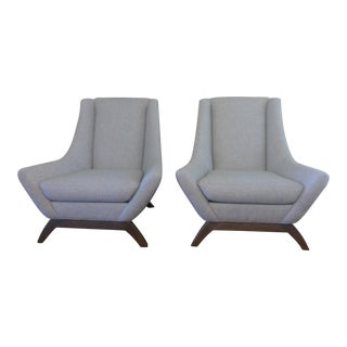 Contemporary Gray Precedent Chairs - a Pair For Sale