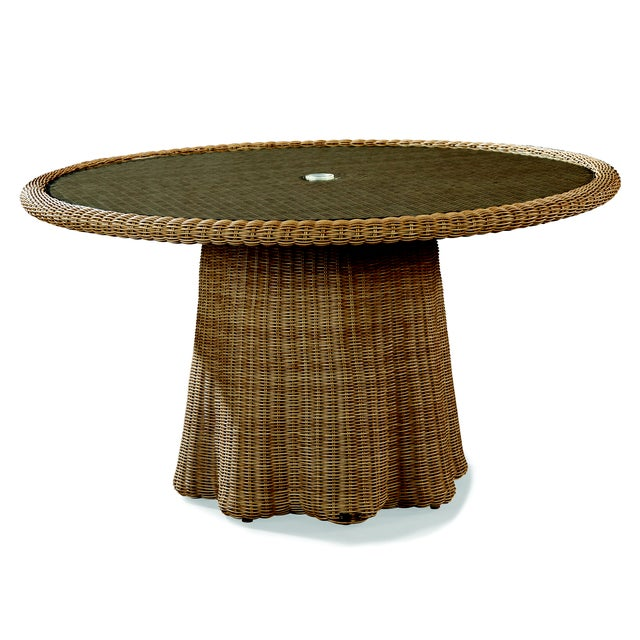 Contemporary Celerie Kemble - Crespi Wave Outdoor Round Dining Table For Sale - Image 3 of 3