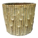 Image of Early 20th Century American Stoneware Tree Stump Planter For Sale