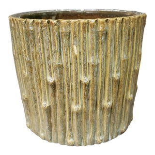 Early 20th Century American Stoneware Tree Stump Planter For Sale