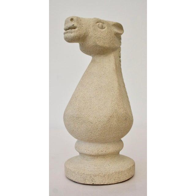 Cast Stone Horse Sculpture - Image 4 of 6