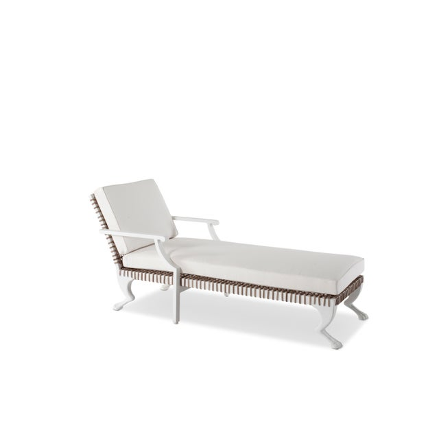 Metal Delta Tau Chaise Lounge in White For Sale - Image 7 of 7