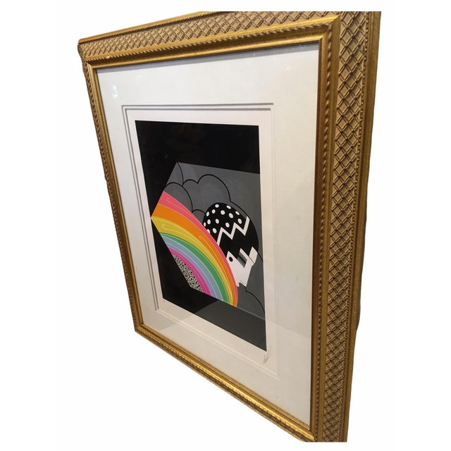 Gorgeous serigraph by Russian born French artist Romain de Tirtoff Known as Erte (1892 - 1990). Professionally framed and...