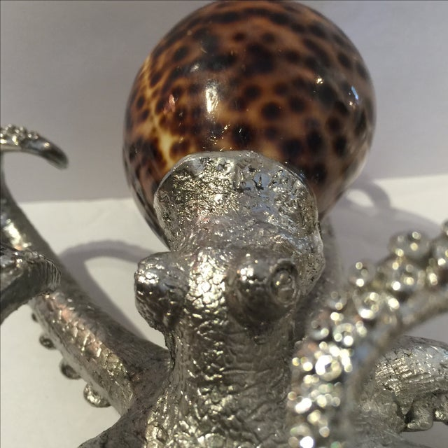 Vintage Metal & Shell Octopus Sculpture For Sale In Sacramento - Image 6 of 10