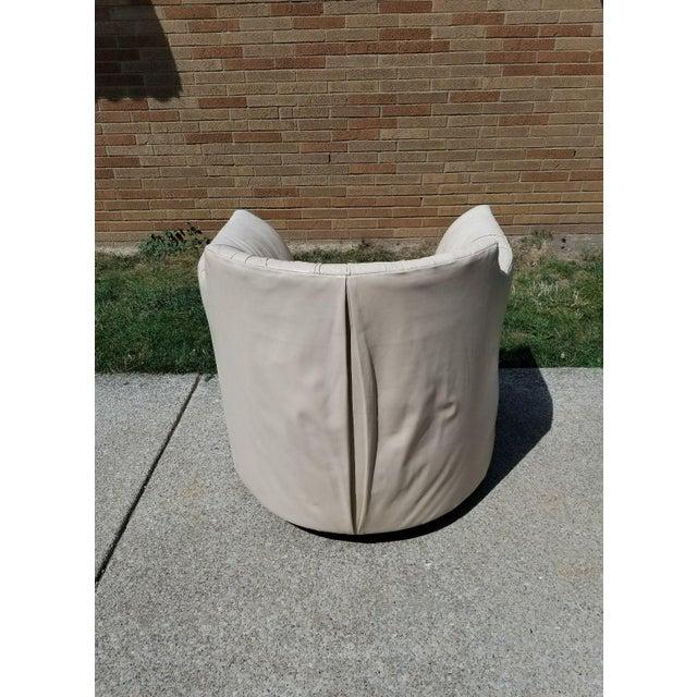 Astonishing John Saladino For Baker Leather Swivel Lounge Chair Alphanode Cool Chair Designs And Ideas Alphanodeonline