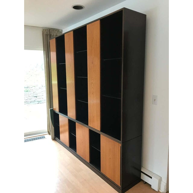 Harvey Probber Monumental Harvey Probber Cabinet With Doors and Shelves With Alternating Woods For Sale - Image 4 of 6