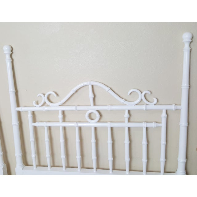 Traditional Vintage Kensington by Drexel Twin Faux Bamboo Headboards - a Pair For Sale - Image 3 of 8