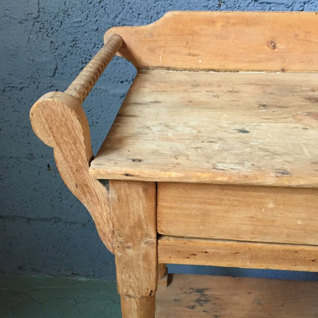 Antique Pine & Milk Glass Washstand For Sale - Image 9 of 11