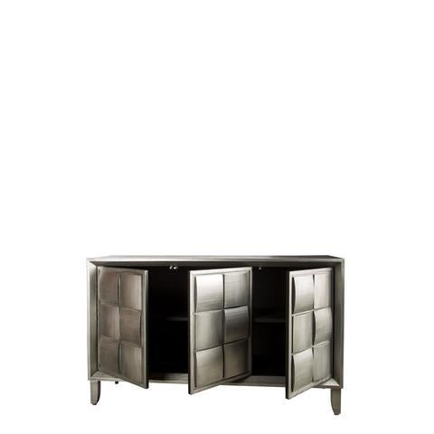 Mid-Century Modern Mid-Century Modern Delancey Silver Wood Sideboard For Sale - Image 3 of 5