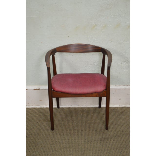 Wood Danish Modern Vintage Curved Back Arm Chair by Raymor For Sale - Image 7 of 10