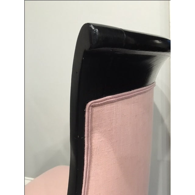 Pink 19th Century Ebonized Chair - Image 8 of 8