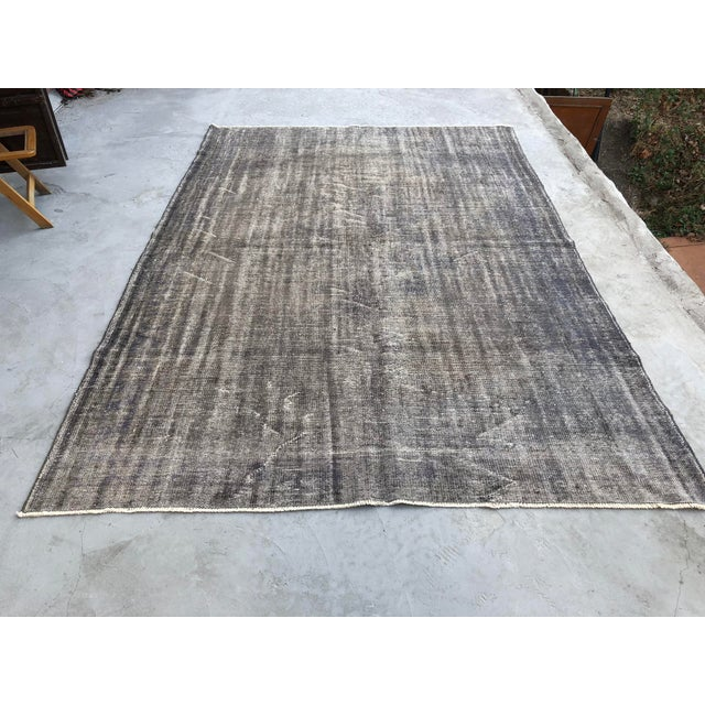 Vintage Anatolian Distressed Rug For Sale - Image 10 of 10
