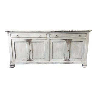 18th Century Italian Tuscan Painted Enfilade White Sideboard Credenza