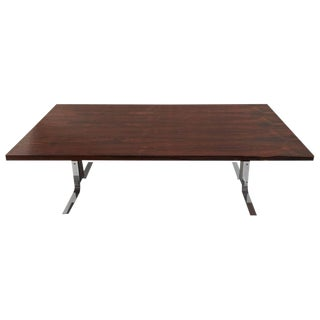 1960s Mid-Century Modern Milo Baughman Rosewood and Chrome Coffee Table For Sale