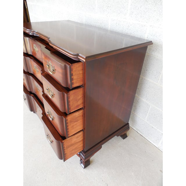 Brown KINDEL Chippendale Style Mahogany Block Front Chest For Sale - Image 8 of 11