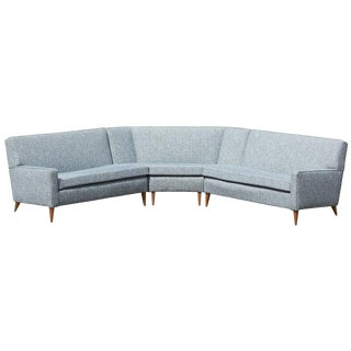 Paul McCobb Sectional Corner Sofa Custom Craft/ Planner Group Newly Upholstered For Sale