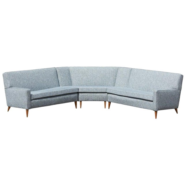 Paul McCobb Sectional Corner Sofa Custom Craft/ Planner Group Newly  Upholstered
