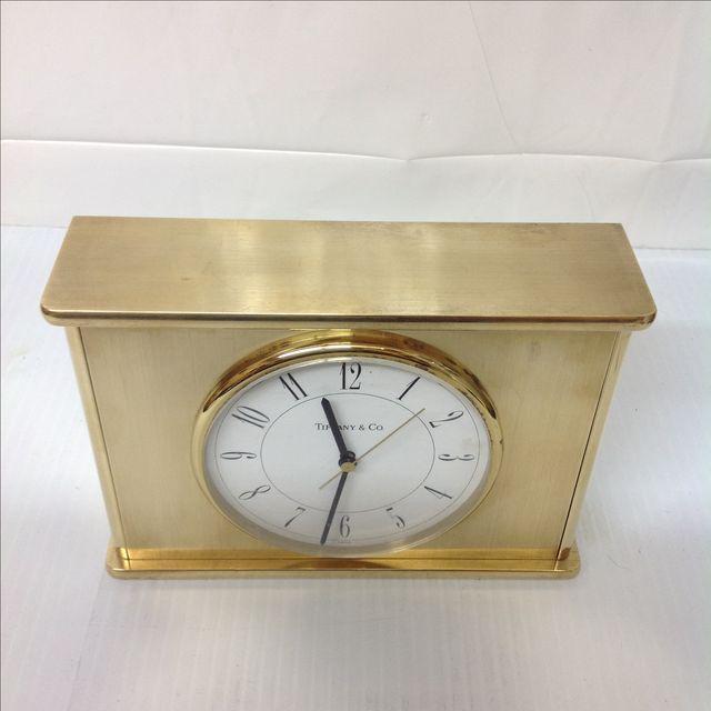 Vintage Tiffany & Co. Brass Mantle Clock - Image 6 of 8