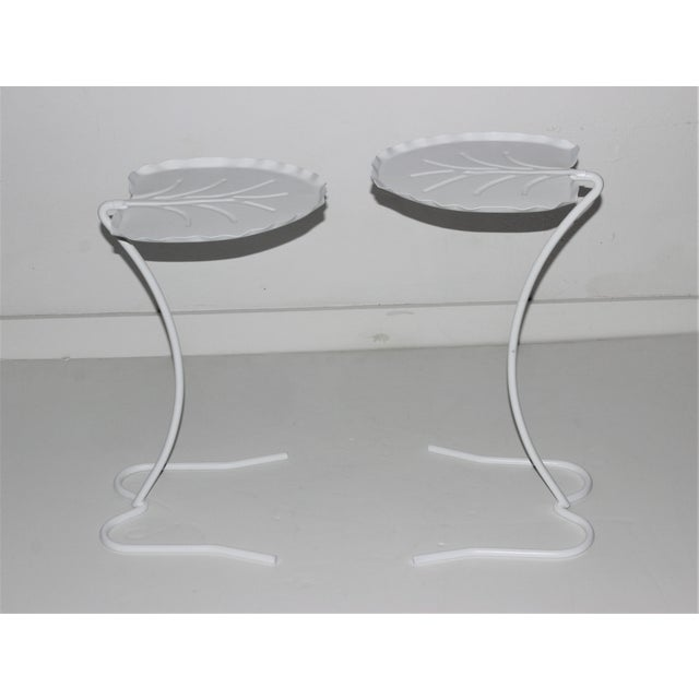Salterini Nesting Lily Pad Drinks Tables Indoor Outdoor Patio - a Pair For Sale - Image 10 of 12