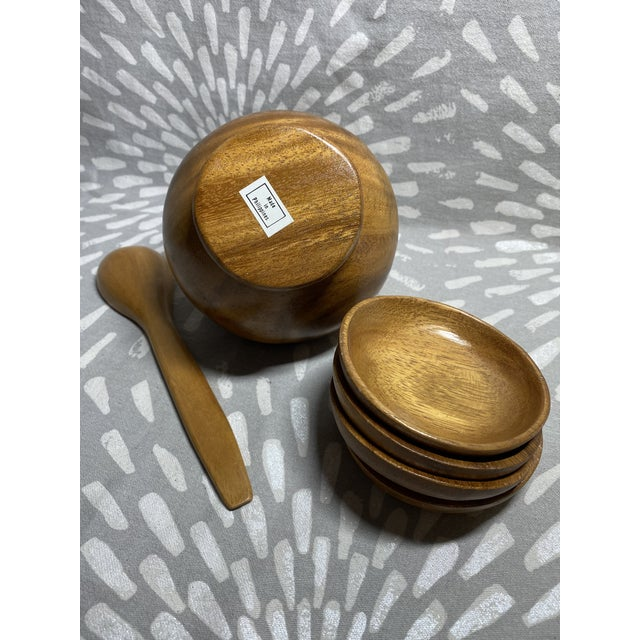 1960s 1960s Mid-Century Modern Philippine Myrtlewood Dip Set - 6 Pieces For Sale - Image 5 of 8