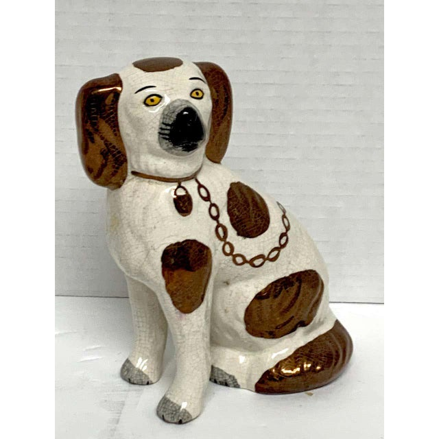 Metal 19th Century Staffordshire Diminutive Copper Luster Dogs - a Pair For Sale - Image 7 of 10
