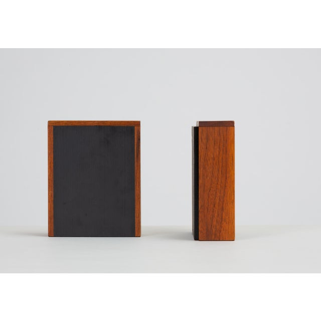 Black Pair of Scandinavian Modern Slate and Teak Bookends For Sale - Image 8 of 11