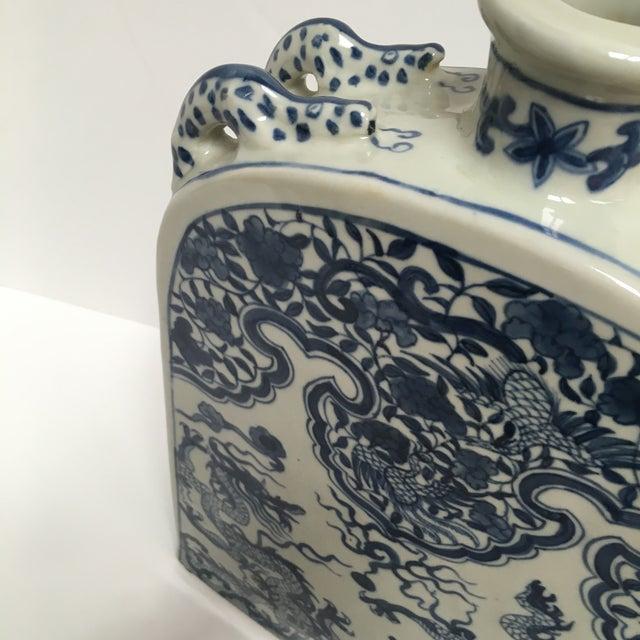 Blue Chinese Dragon Flat-Front Vase - Image 8 of 11