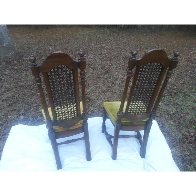 A pair of Century Furniture Co. high caned back dining room chairs. These chairs are in fantastic condition . Good solid...