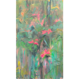 """""""Wild Roses"""" by Trixie Pitts Large Semi-Abstract Oil Painting For Sale"""