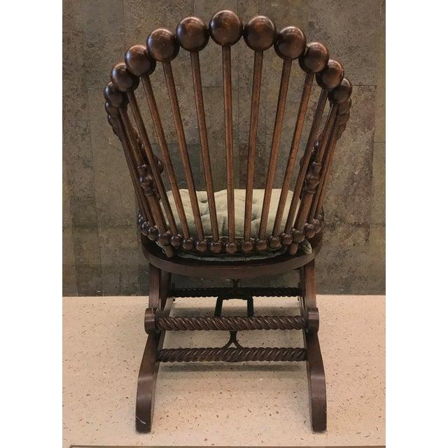 Traditional Hunzinger Lollipop Platform Rocking Chair For Sale - Image 3 of 8