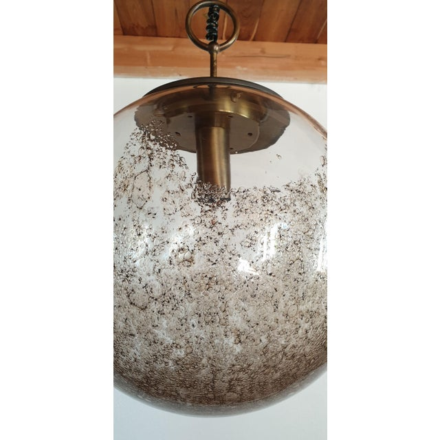 1960s Mid Century Modern Murano Glass Pendant Light by Carlo Nason for Mazzega For Sale - Image 5 of 12