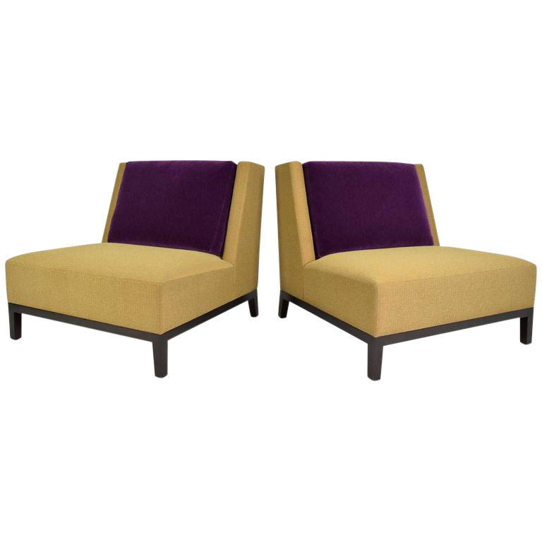 Pair Of Christian Liaigre For Holly Hunt Lounge Chairs   Image 1 Of 8