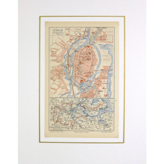Antique Lithograph Map - Lübeck, Germany, 1880 - Image 3 of 4