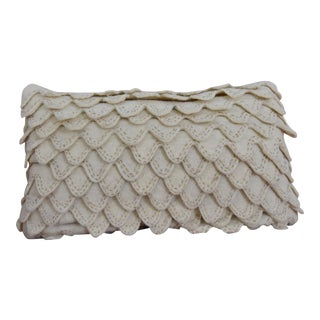 Embroidered & Layered Detail Lumbar Throw Pillow For Sale