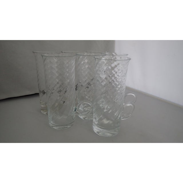 Modern Vintage Irish Fine Glass Coffee Mugs S/7 For Sale - Image 3 of 7