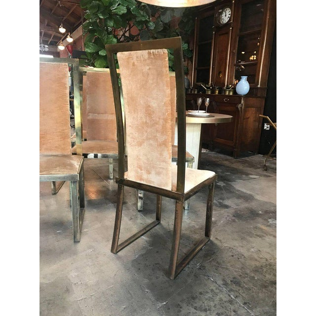 Italian Chairs in Massive Brass, 1960, Set of Four For Sale In Los Angeles - Image 6 of 10
