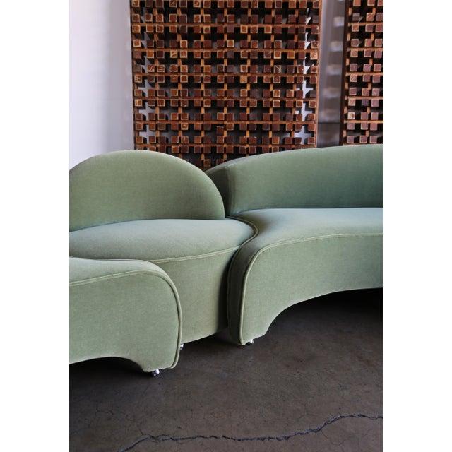 "Textile Vladimir Kagan ""Comete"" Sofa for Roche Bobois, 2003 - Set of 3 For Sale - Image 7 of 13"
