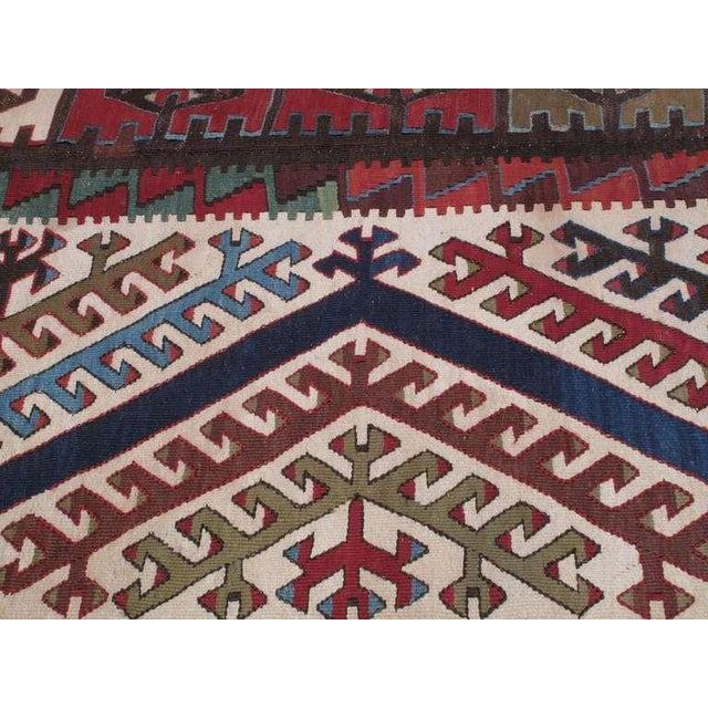Mid 19th Century Impressive Antique Konya Kilim For Sale - Image 5 of 8