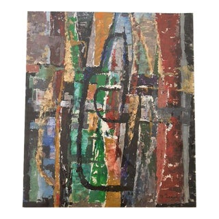 Bernard Segal Abstract Painting For Sale