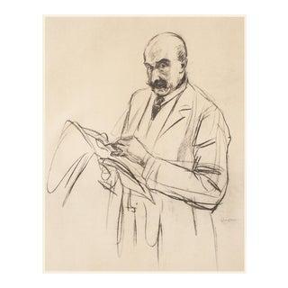 "Rare 1950s Max Liebermann ""Self-Portrait"", First Edition Lithograph For Sale"