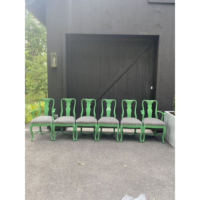 Lacquered Dining Chairs - Set of 6 For Sale - Image 12 of 12