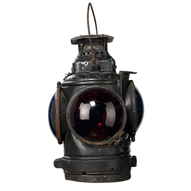 Another fine example of an Adlake Non-Sweating Lamp used in the train yards in the late 1800's and early 1900's. This one...