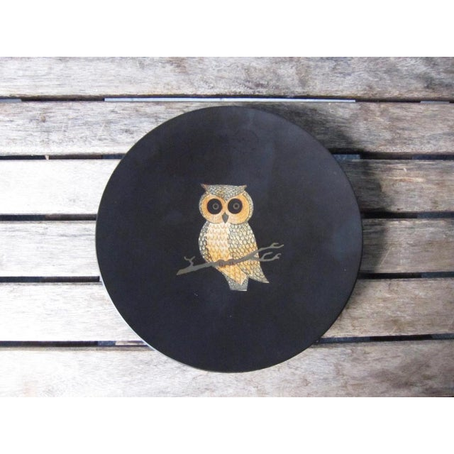 Vintage Couroc of Monterey Owl Dish For Sale - Image 9 of 9