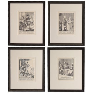 19th Century Piattoli Etchings, Framed - Set of 4 For Sale
