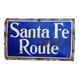 Antique Santa Fe Railway Sign For Sale