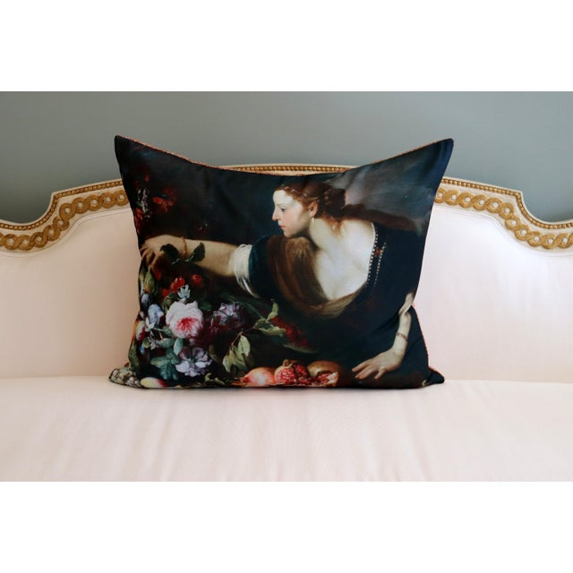 Paris Photo Pillow Italian Painting in the Louvre For Sale - Image 6 of 12
