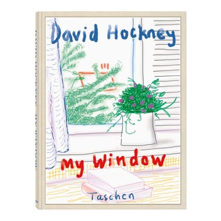 "TASCHEN Books Autographed David Hockney ""My Window"" Painting Collection, Collectors Edition For Sale"